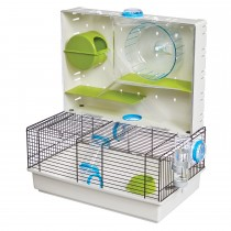 "Midwest Critterville Arcade Hamster Home Clear, Green, Blue 18.11"" x 11.61"" x 21.26"""