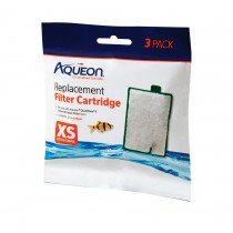 """Aqueon Replacement Filter Cartridges 3 pack Extra Small 5.24"""" x 1.75"""" x 5.7"""""""