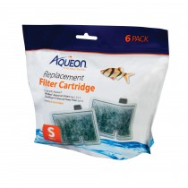 """Aqueon Replacement Filter Cartridges 6 pack Small 6.2"""" x 2"""" x 6.2"""""""
