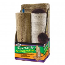 "Four Paws Super Catnip Carpet and Sisal Scratching Post 6.5"" x 6.5"" x 21"""