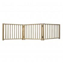 "Four Paws Smart Design Folding Freestanding Gate 3 Panel Beige 24"" - 68"" x 1"" x 17"""