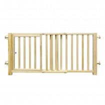 """Four Paws Smart Design Walkover Pressure Mounted Gate with Door Beige 30"""" - 44"""" x 1"""" x 18"""""""