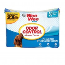 "Four Paws Wee-Wee Odor Control Pads 50 count White 22"" x 23"" x 0.1"""
