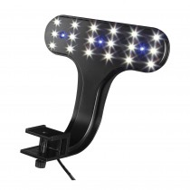 "Aqueon Fish Tank Clip-On LED Lights 2 Way Control Black 8"" x 7"" x 4.75"""