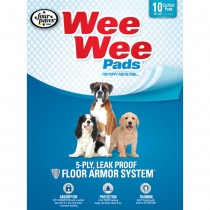 "Four Paws Wee-Wee Pads 10 pack White 22"" x 23"" x 0.1"""