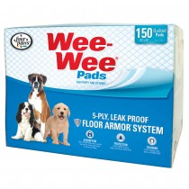 "Four Paws Wee-Wee Pads 150 pack White 22"" x 23"" x 0.1"""