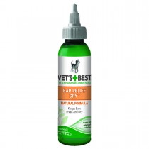 "Vet's Best Dog Dry Ear Relief 4oz Green 1.5"" x 1.5"" x 5"""