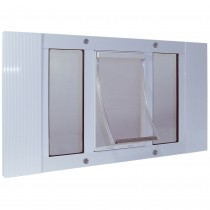 "Ideal Pet Products Aluminum Sash Pet Door Medium White 1.63"" x 16.63"" x 33"""