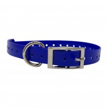 """The Buzzard's Roost Replacement Collar Strap 3/4"""" Dark Blue 3/4"""" x 24"""""""