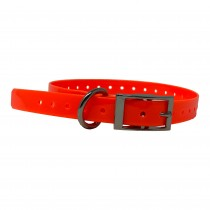 """The Buzzard's Roost Replacement Collar Strap 3/4"""" Orange 3/4"""" x 24"""""""