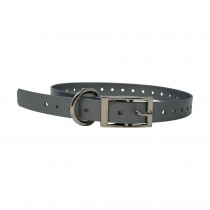 """The Buzzard's Roost Replacement Collar Strap 3/4"""" Silver 3/4"""" x 24"""""""