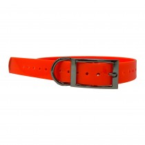 "The Buzzard's Roost Replacement Collar Strap 1"" Orange 1"" x 24"""
