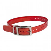 "The Buzzard's Roost Replacement Collar Strap 1"" Red 1"" x 24"""