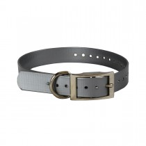 """The Buzzard's Roost Replacement Collar Strap 1"""" Silver 1"""" x 24"""""""