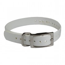 "The Buzzard's Roost Replacement Collar Strap 1"" White 1"" x 24"""