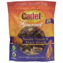 Cadet Premium Gourmet Duck and Sweet Potato Wraps Treats 28 ounces