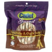 Cadet Premium Gourmet Rawhide and Duck Twists Treats 50 pack