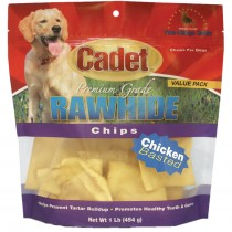 Cadet Rawhide Chips Chicken Basted 1 pound