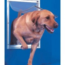 "Ideal Pet Products Deluxe Aluminum Pet Door Extra Large White 2.12"" x 12.81"" x 18.75"""