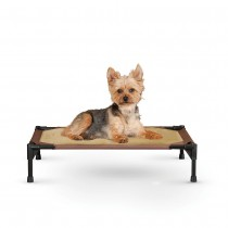 "K&H Pet Products Comfy Pet Cot Tan/Mocha 17"" x 22"" x 7"" - KH1600"