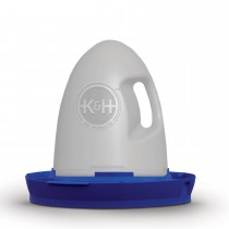 "K&H Pet Products Poultry Waterer Unheated 2.5 gallon Blue 16"" x 16"" x 15"""