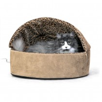 K&H Pet Products Thermo-Kitty Bed Deluxe Hooded