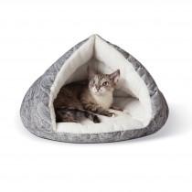 """K&H Pet Products Self-Warming Kitty Hut Gray 19"""" x 18"""" x 18"""""""