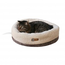 K&H Pet Products Thermo-Snuggle Cup Pet Bed Bomber Gray 14'' x 18'' x 7''