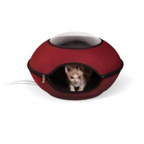 "K&H Pet Products Thermo-Lookout Cat Pod Red 21"" x 21"" x 7.5"""
