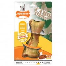 Nylabone Strong Chew Rubber Camo Bone Duck Flavor Regular