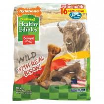 Nylabone Healthy Edibles Wild Chew Treats Bison Small 16 count