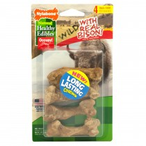 Nylabone Healthy Edibles Wild Chew Treats Bison Small 4 count