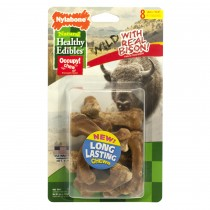 Nylabone Healthy Edibles Wild Chew Treats Bison Small 8 count