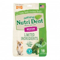 Nylabone Nutri Dent Limited Ingredient Dental Chews Fresh Breath T-Rex Medium 16 count