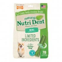 Nylabone Nutri Dent Limited Ingredient Dental Chews Fresh Breath Mini 78 count