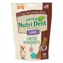 Nylabone Nutri Dent Limited Ingredient Dental Chews Filet Mignon Large 10 count