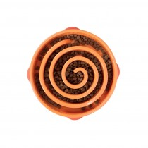 "Outward Hound Fun Feeder Slo-Bowl Swirl Large Orange 12.75"" x 11"" x 2.6"""