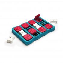 """Outward Hound Nina Ottosson Dog Brick Puzzle Game Large Blue 12.75"""" x 9.25"""" x 2"""""""