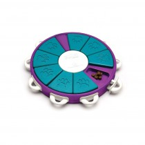 """Outward Hound Nina Ottosson Dog Twister Puzzle Game Large Purple/Teal 13.25"""" x 12"""" x 2"""""""