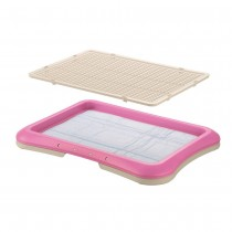 "Richell Paw Trax Mesh Training Tray Pink 25.2"" x 18.9"" x 1.6"" - R94555"