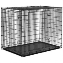 """Midwest Solution Series Ginormous Double Door Crate 54"""" x 37"""" x 45"""" - SL54DD"""